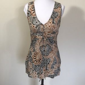Express Silk Blend Patterned Top- Sm NWOT